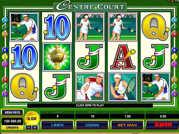 Casino online automat Centre Court