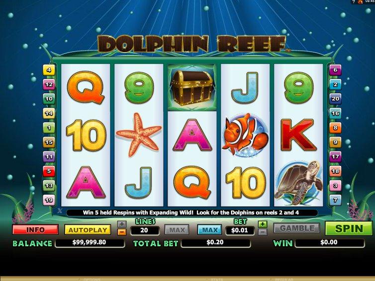 Herní online automat Dolphin Reef