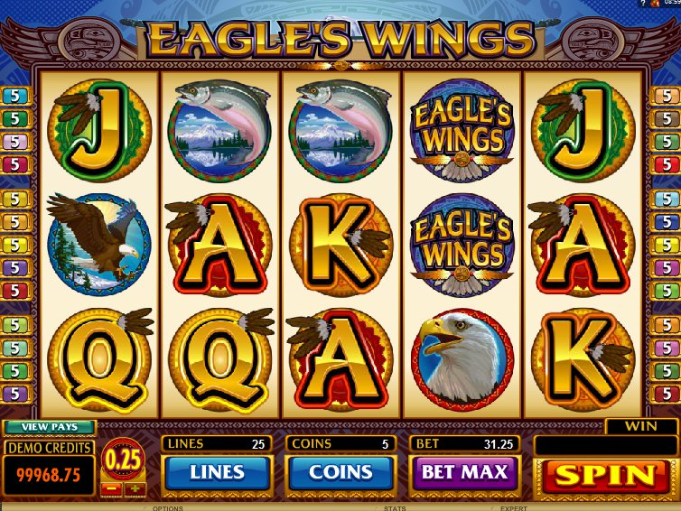 Obrázek z online casino automatu Eagles Wings zdarma