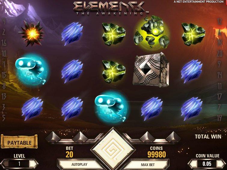 Casino online automat Elements zdarma