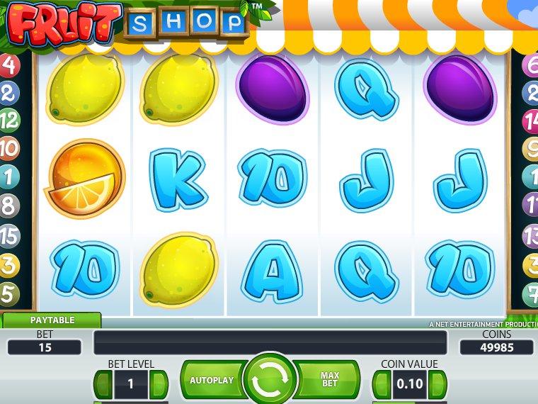 Výherní online automat Fruit Shop