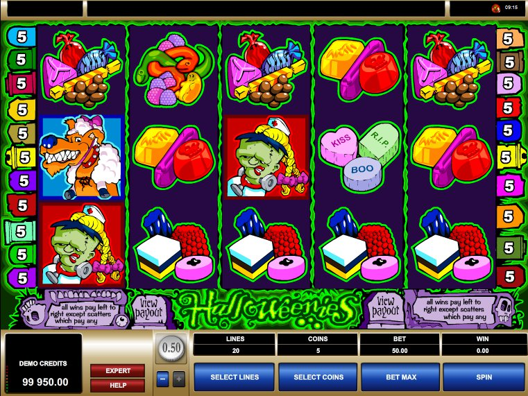 online zdarma automat Halloweenies