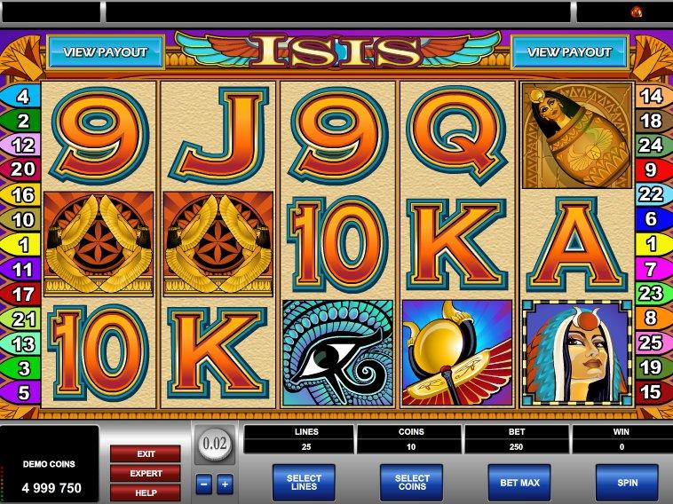 online výherní automat zdarma Isis