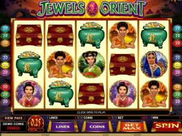 Hrací online automat Jewels of the Orient