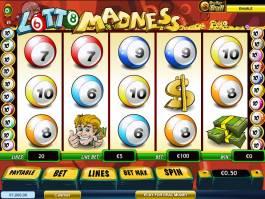 Herní online automat Lotto Madness zdarma