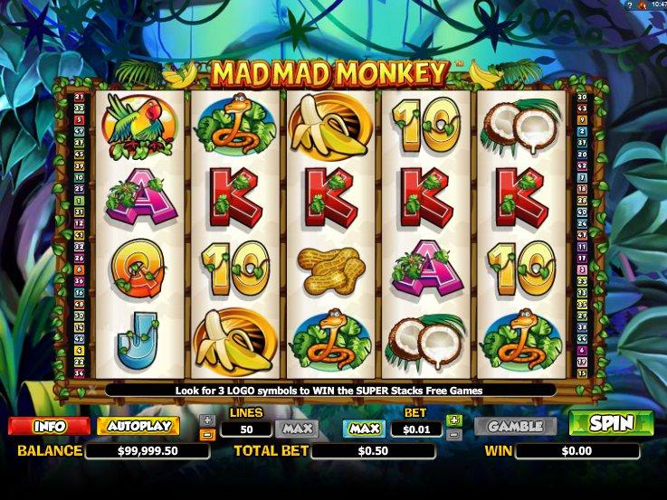 Automat Mad Mad Monkey online zdarma