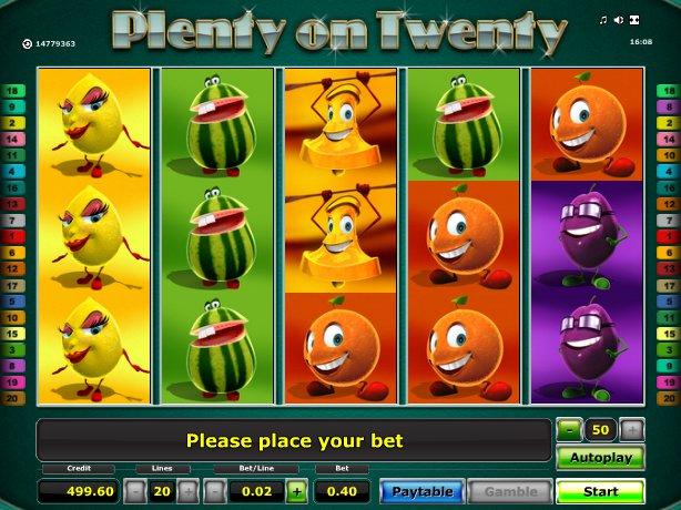 herní online automat Plenty on Twenty