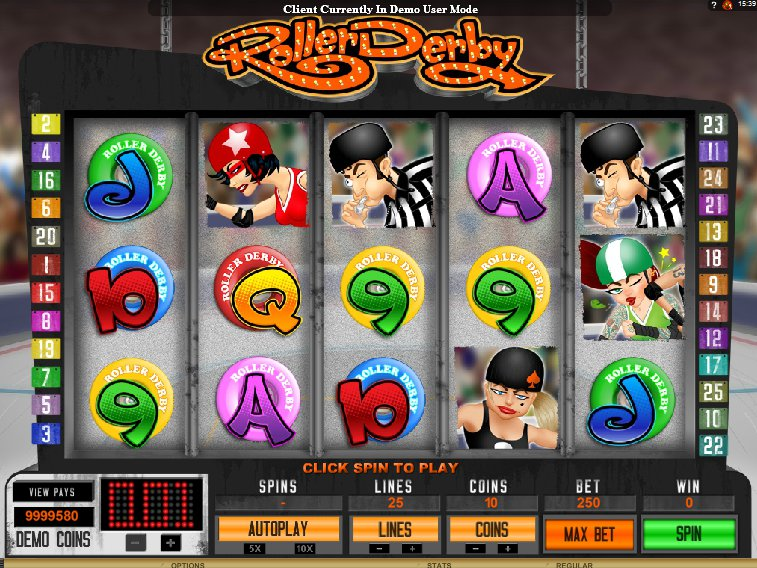 Hrací online automat Roller Derby