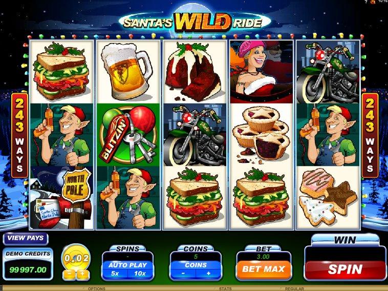 herní online automat zdarma Santa´s Wild Ride