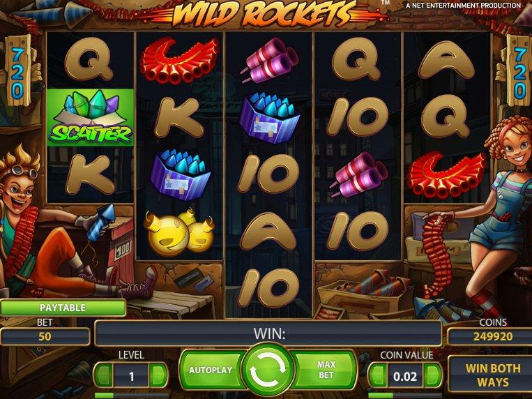 Hrací online automat Wild Rocket