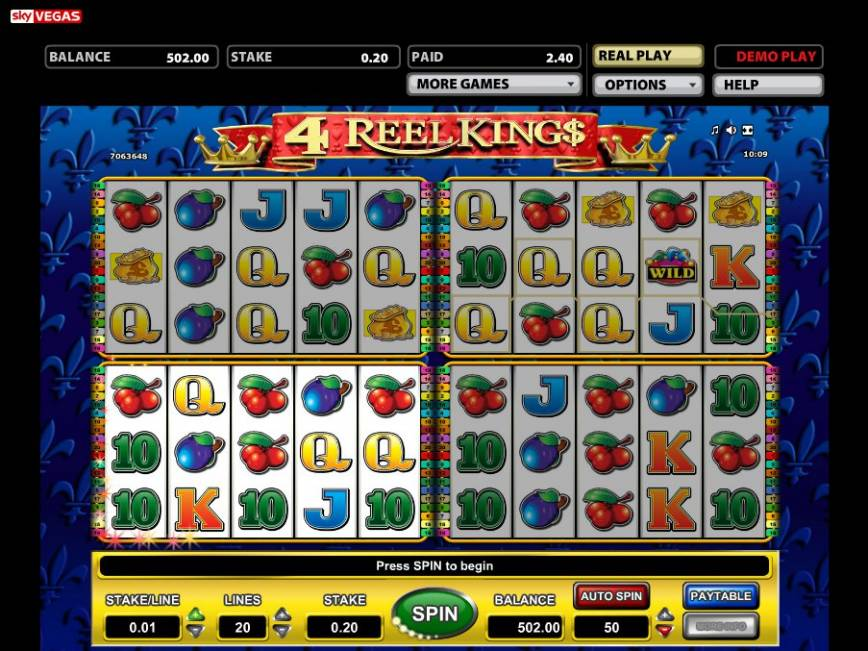Herní automat 4 Reel Kings online zdarma