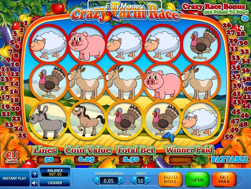 Herní online automat Crazy Farm Rase zdarma