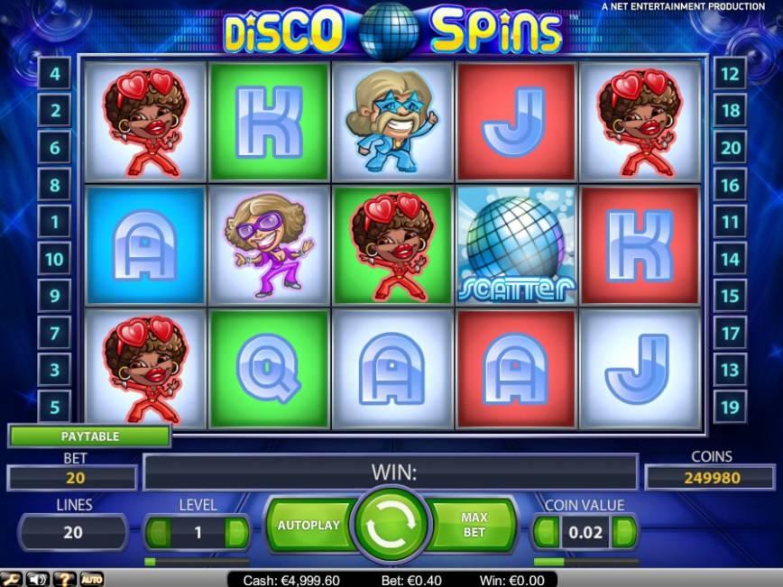 Hrací automat Disco Spins zdarma