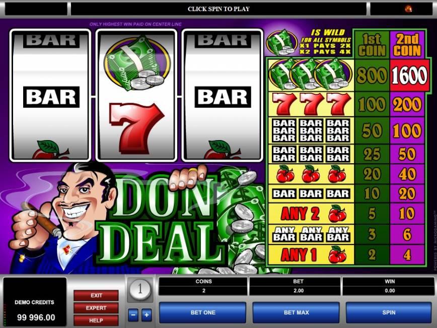 Herní automat zdarma Don Deal online