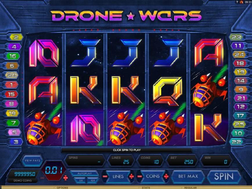 Herní online automat zdarma Drone Wars