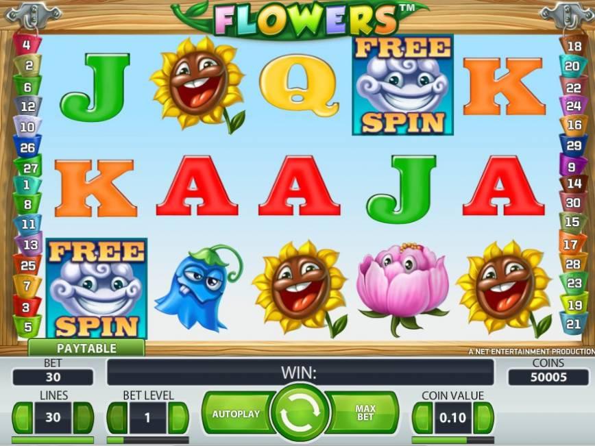 Hrací automat Flowers online zdarma