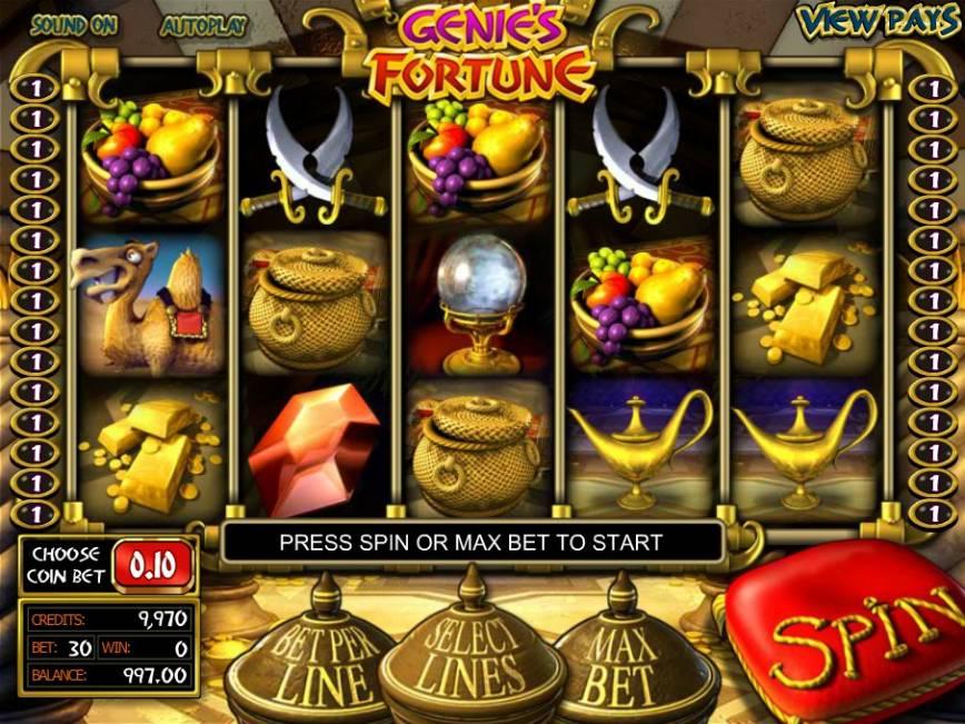 Výherní online automat Genie´s Fortune zdarma