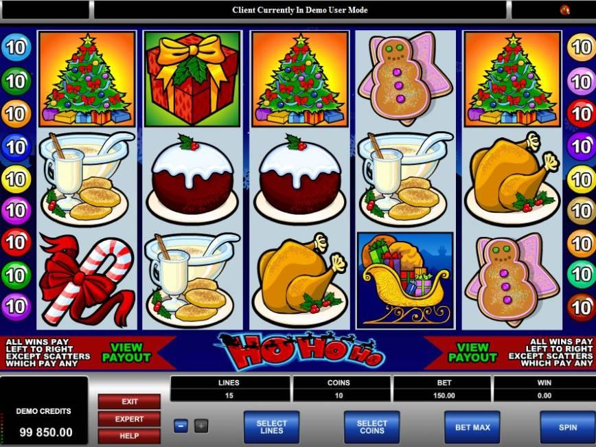 Hrací online automat zdarma HoHoHo