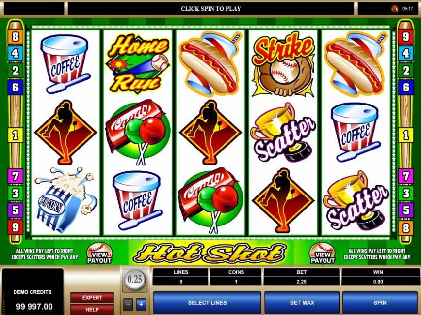 Herní online automat zdarma Hot Shot