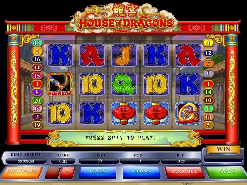 Herní automat House of Dragons online zdarma