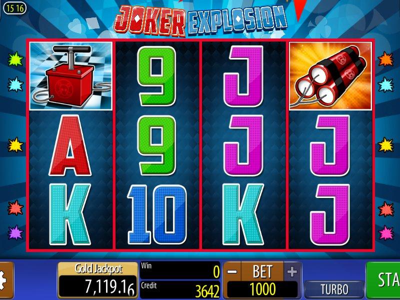 Zahrajte si casino automat Joker Explosion online, zdarma