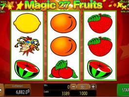 Hrací automat Magic Fruits 27 online zdarma