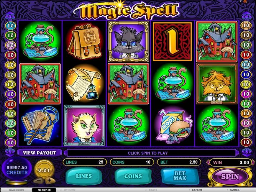 Výherní automat Magic Spell online zdarma