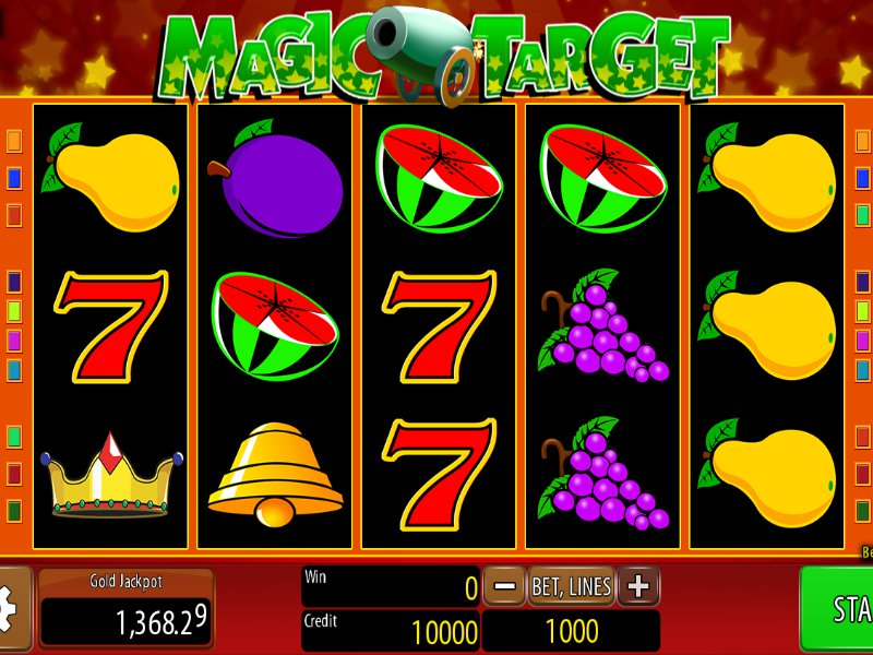 Herní online automat Magic Target