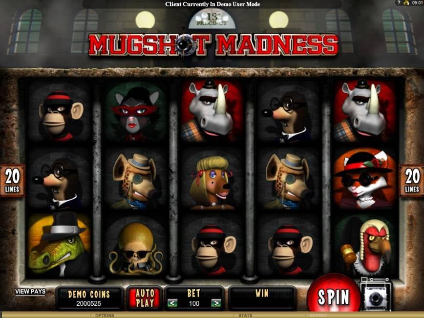 Casino automat Mugshot Madness online zdarma