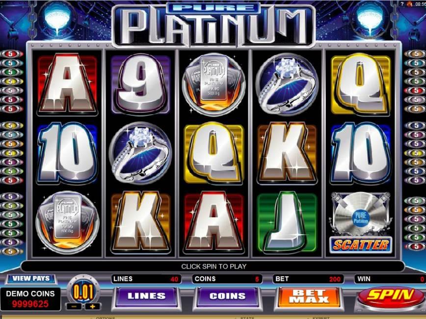 Výherní automat zdarma Pure Platinum online