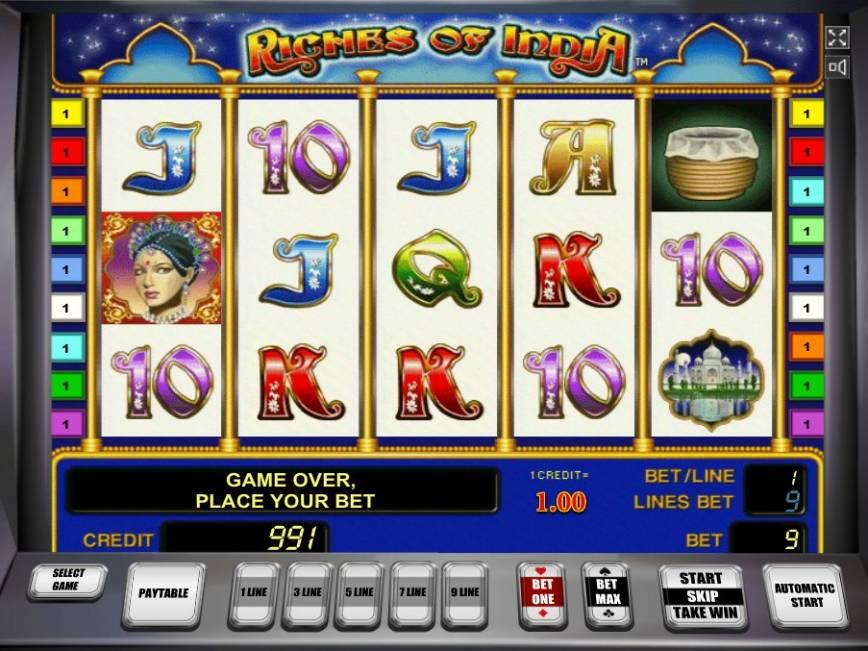 Výherní automat Riches of India zdarma online