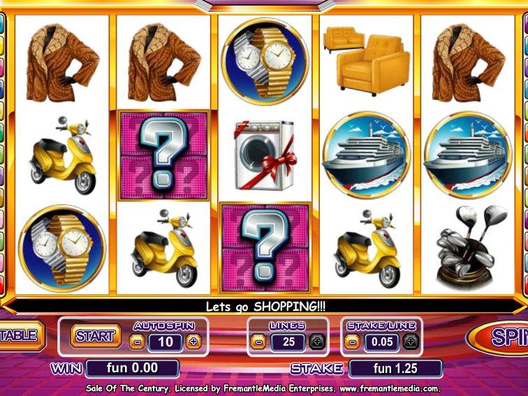 Sale of the Century herní online automat zdarma