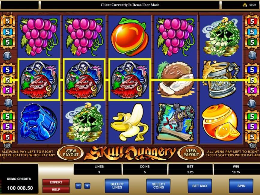 Casino online hrací automat Skull Duggery zdarma