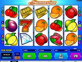 Herní automat Summertime online zdarma