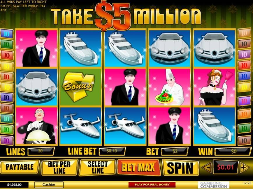 Zdarma online automat Take 5 Million