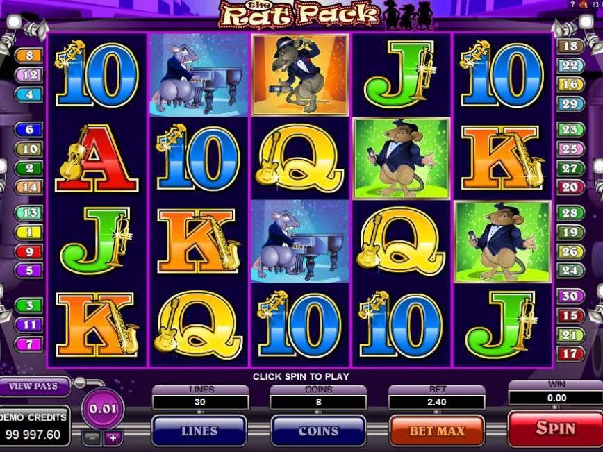 Herní online automat The Rat Pack zdarma
