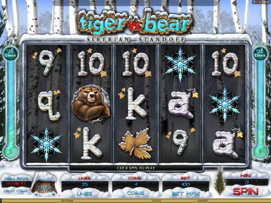 Hrací automat Tiger vs. Bear online zdarma