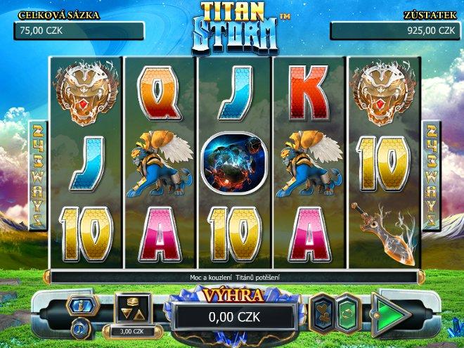 Herní online automat Titan Storm zdarma