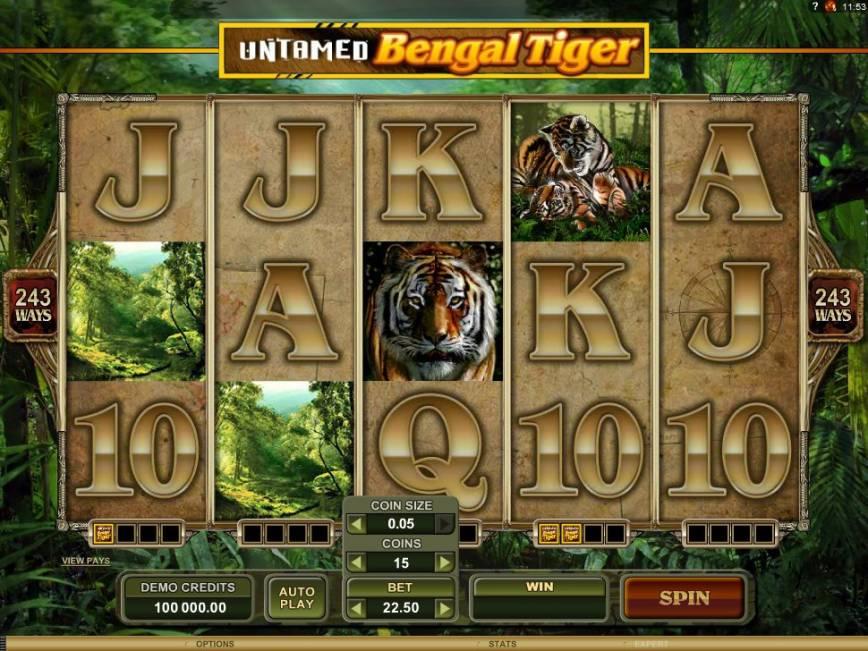Výherní automat Untamed Bengal Tiger zdarma online