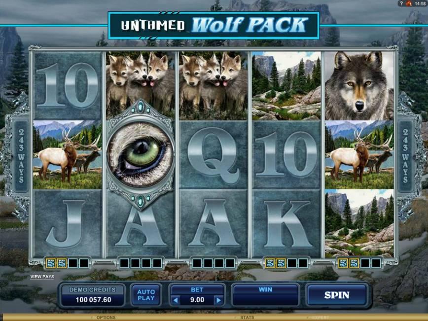 Hrací online automat zdarma Untamed Wolf Pack