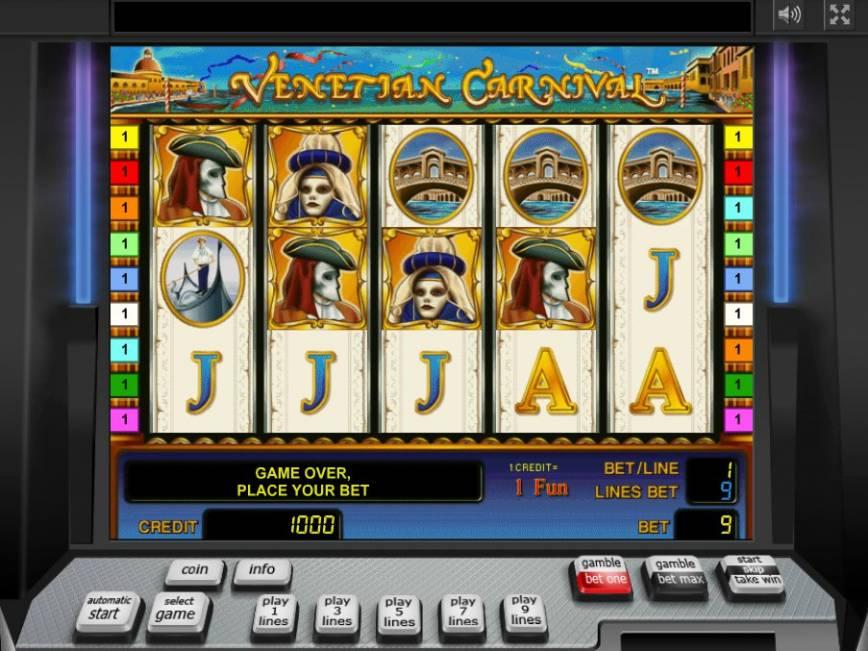 Zdarma online automat Venetian Carnival