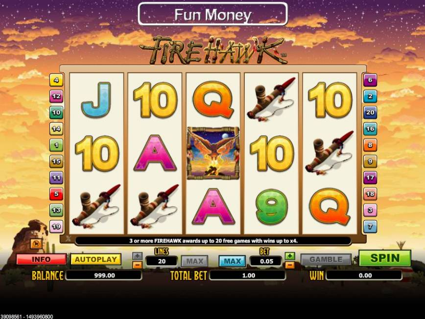 Online casino automat zdarma FireHawk