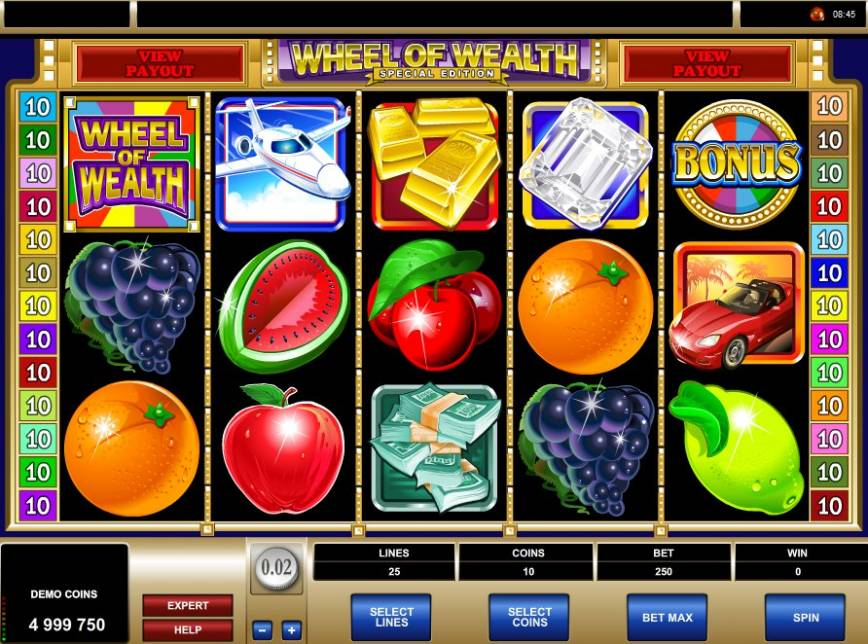 Hrací automat Wheel of Wealth Special Edition zdarma