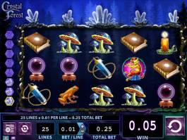 Zahrajte si zábavný casino automat Crystal Forest online