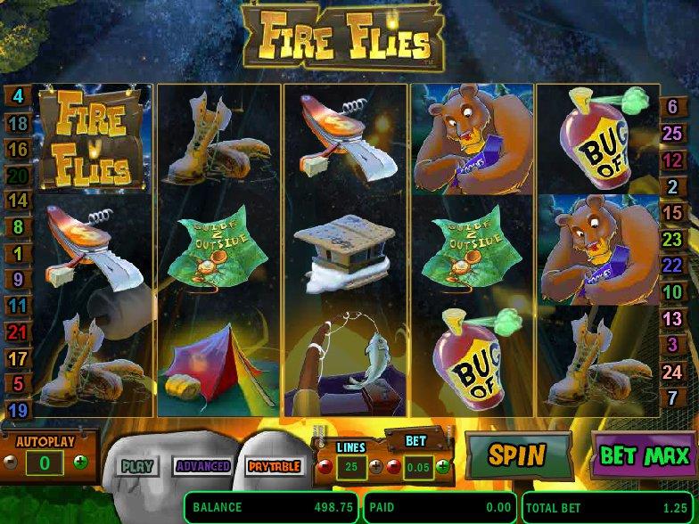 Výherní online automat Fire Flies