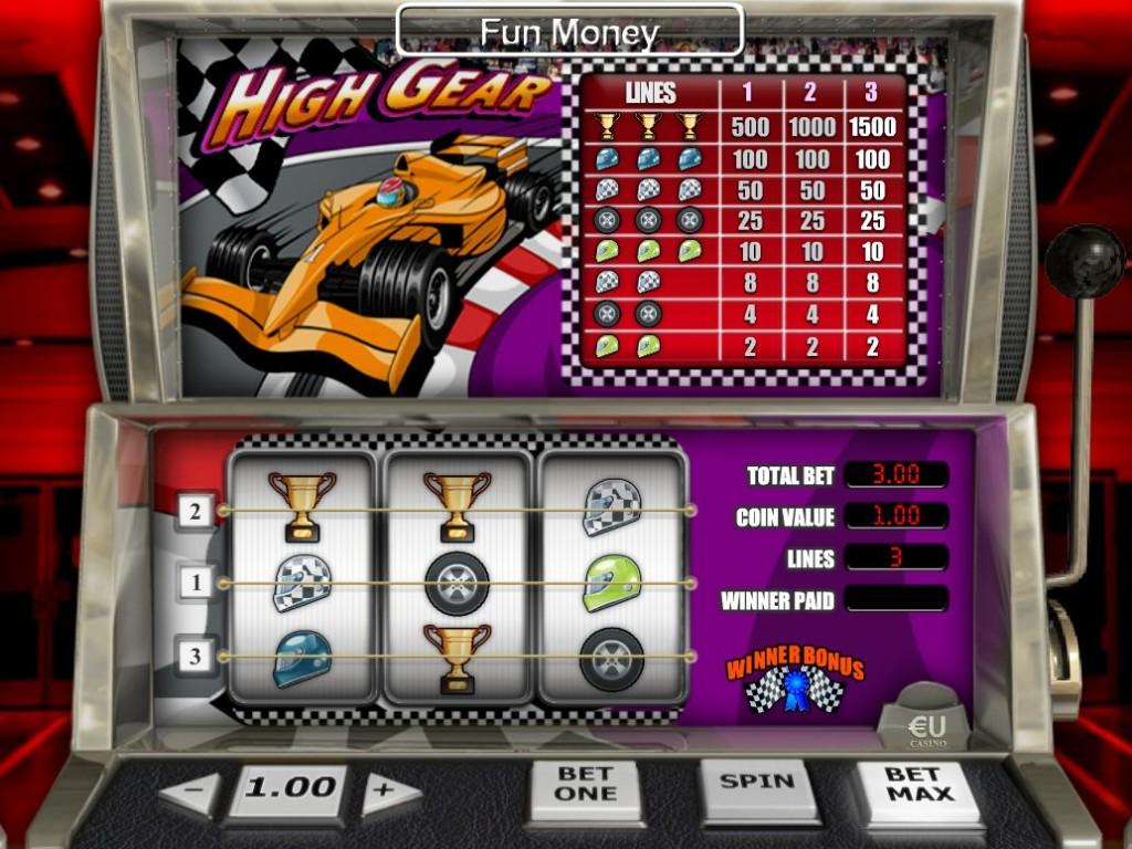 Výherní automat High Gear