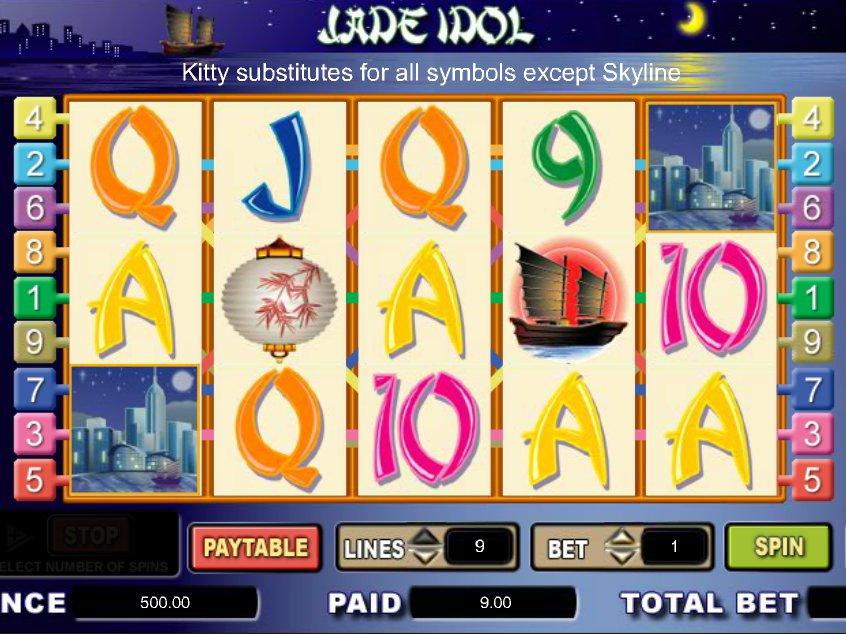 Hrací casino automat Jade Idol