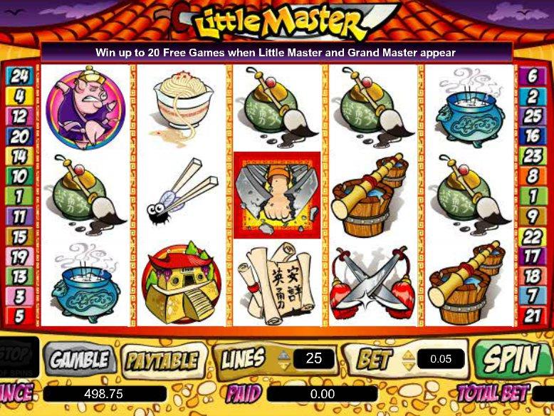 Hrací online automat Little Master