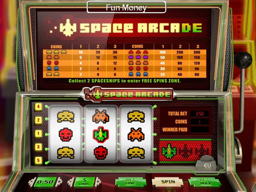 Casino online automat Space Arcade