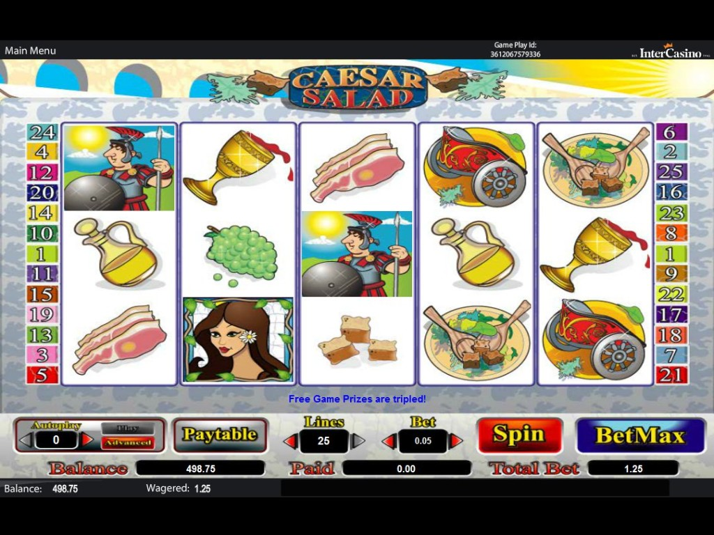 Zdarma casino hra Caesar Salad